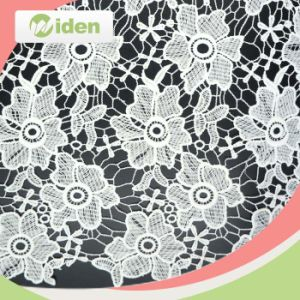 Lace Dress Design 100 % Milky Polyester Chemical Lace Fabric pictures & photos