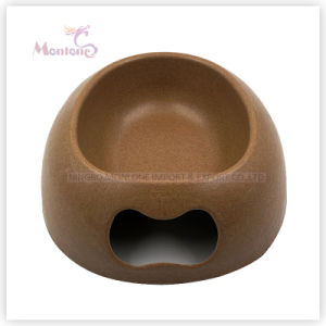 290g Cat/Dog Feeders, Round Bamboo Pet Bowls pictures & photos