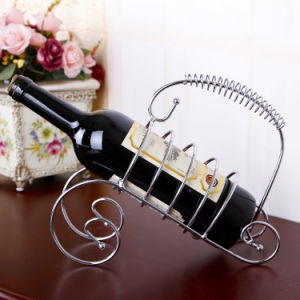 2016 Factory Single Bottle Metal Stainless Steel Wine Rack pictures & photos