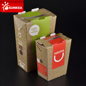 Custom Logo Square Bottom Paper Popcorn Box pictures & photos