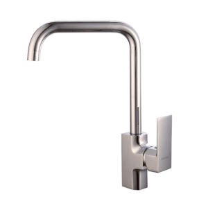 Contemporary Single Handle Brass Kitchen Faucet with Chrome pictures & photos