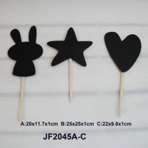 Wooden Star and Heart Blackboard in MDF pictures & photos