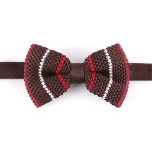 Men′s Fashionable 100% Polyester Knitted Bow Tie (YWZJ95) pictures & photos