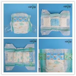 Disposable Baby Diaper in Soft Surface and Super Absorbent Core Xd-J#066