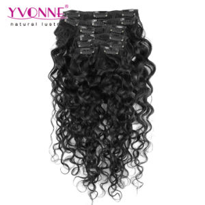 Peruvian Clip in Human Hair Extensions for Black Women pictures & photos