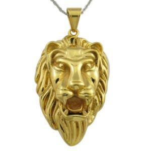 Lion Style Charm Gold Lion Head Necklace Pendant pictures & photos