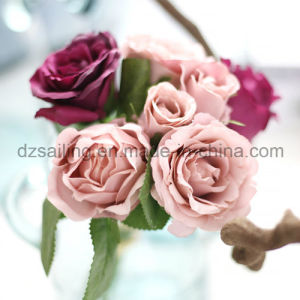 Colorful Decorative Wedding Rose Bouquet Artificial Flower (SF14651) pictures & photos