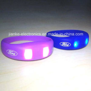 Christmas Ornament Motion Activated LED Bracelet with Logo Print (4010) pictures & photos