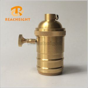 UL E26 Gold Brass Lamp Socket with Switch pictures & photos