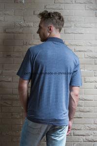 High Quality Slim Pure Color Gentle Men Polo Shirt Golf Clothes pictures & photos