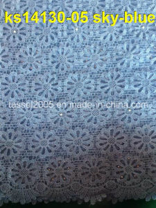 African Fashion Swiss Cotton Voile Lace Guipure Cord Lace 2014 pictures & photos