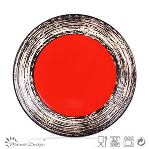 26.6cm Colorful Glazing Ceramic Dinner Plate pictures & photos