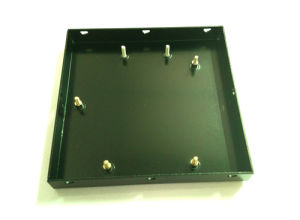 Stamped Aluminum Plate with Corners Rivet Edgefold for Electronic Accessories pictures & photos