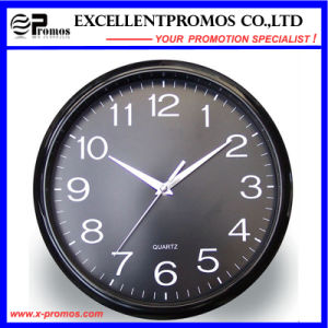 12inch Logo Printing Round Plastic Wall Clock (EP-Item12) pictures & photos