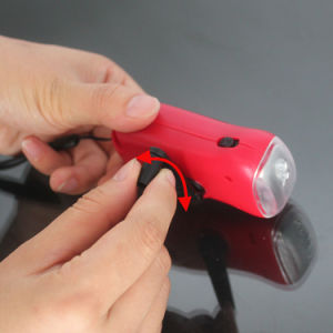New Popular Solar Hand Crank Dynamo Torch Flashlight pictures & photos