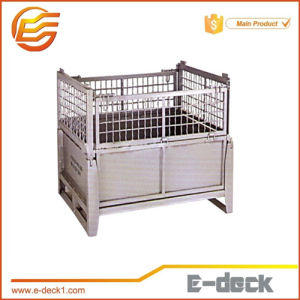 Wire Mesh Metal Plate Container Crates For Storage