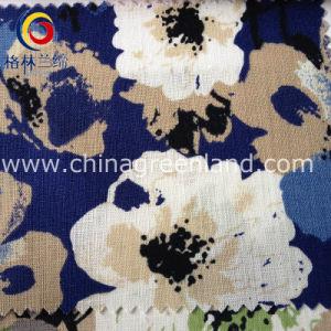Cotton Flower Linen Fabric for Woman Garment Textile (GLLML102) pictures & photos