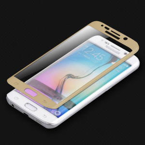 Full Coverage Tempered Glass Screen Protector for Samsung Galaxy S6 Edge with Curved Sides pictures & photos