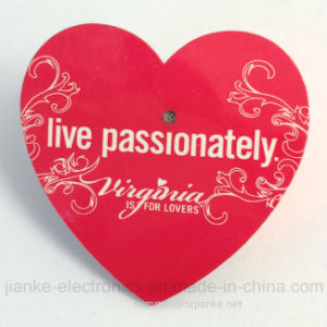 Heart Shape Blinky Pins with Customized Design (3161) pictures & photos