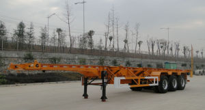 3 Axles Skeletal Container Semitrailer 48ft