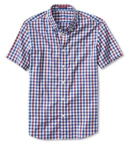 Slim-Fit Tri-Gingham Short-Sleeve Shirt pictures & photos