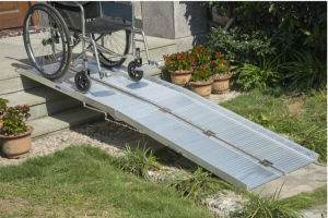 Practical Aluminum Loading Wheelchair Ramp pictures & photos
