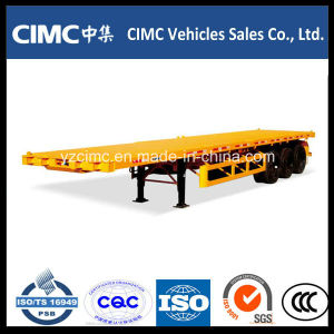 Cimc Tri-Axle 40t Container Semi Trailer with Fuwa Axle pictures & photos