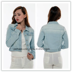 Wholesale Women Clothes Short Denim Jacket pictures & photos