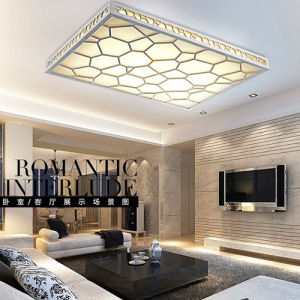 Most Popular PVC Wooden Water Cube LED Ceiling Lighting pictures & photos