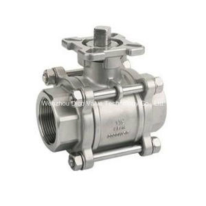 Ce NPT Thread 3PC Ball Valve with Mounting Pad pictures & photos