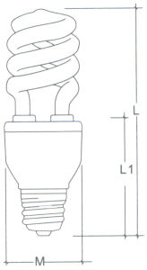 15W T4 Half Spiral Energy Saving CFL Lamp with CE (BNFT4-HS-A) pictures & photos
