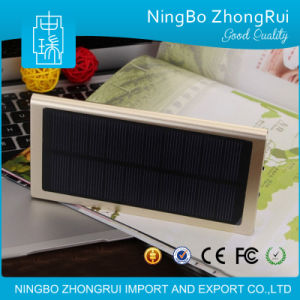 8000mAh Best Quality Universal Portable Panel Power Bank Solar Charger with LED Light pictures & photos