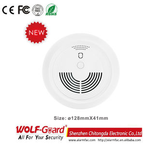 Yg-05 Wireless/Wired Home Security Photoelectricity Smoke Detector pictures & photos