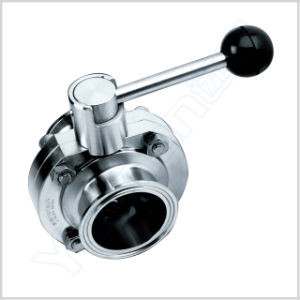 Manual Clamp Sanitary Butterfly Valve pictures & photos