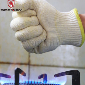 Seeway Hot Sale Two Layers Heat Resistant Gloves Oven Mitts for Kitchen Grill Certification by Bureau Veritas