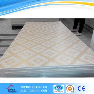 PVC Laminated Gypsum Ceiling Tile 603*603*9mm/PVC Perforated Gypsum Ceiling Tile pictures & photos