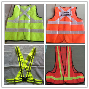 Road Reflective CE Safety Vest with Reflective Material pictures & photos