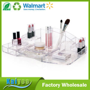 Large Capacity Cosmetic Storage and Makeup Organizer with 15 Compartments pictures & photos