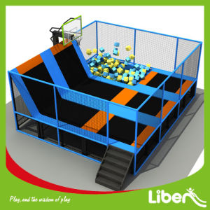 Kids Indoor Trampoline Bed Fashion Trampoline Park with Safety Net pictures & photos