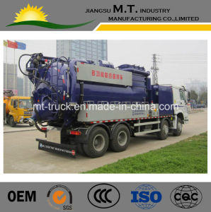 Customized 15000L Industrial Vacuum Sinotruck for Sucking Wet and Dry Dust or Powder