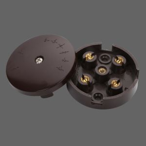 20A 58mm Black Plastic Connection Box with Round Shape