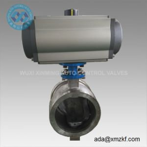 V-Shape Ball Valve with Pneumatic Actuator pictures & photos