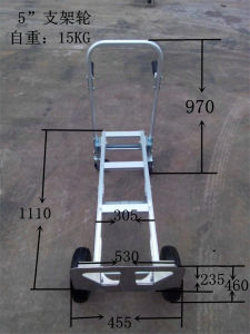 Aluminum Folding Hand Trolley 200bls/Moving Foldable Hand Cart pictures & photos