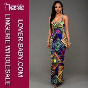 Fashion New Print Slit Ladies Long Dresses (L51308-2) pictures & photos