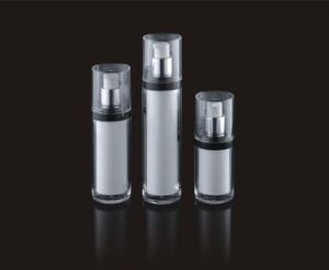 Acrylic Cosmetic Packaging Cylindrical Men′s Airless Lotion Bottle (PPC-AAB-013) pictures & photos