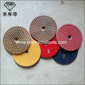 """Wd-11 Diamond Stone Wet 3 Step Polishing Pad (4""""/100mm) pictures & photos"""