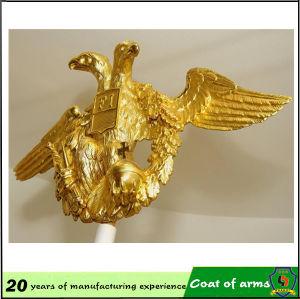 Gold Eagle Shape Metal Emblem pictures & photos