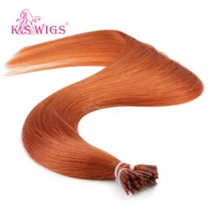 I-Tip Keratin Hair Virgin Remy Indian Hair Extension pictures & photos