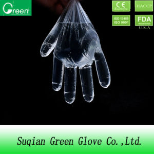 Clear PE Disposable HDPE Gloves pictures & photos