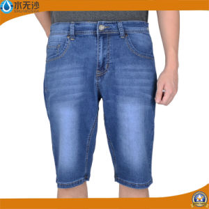 Brand Mens Denim Shorts Blue Jean Short Stretch Short Pants